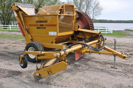 HayBuster DuraTech 3106 Rock-EZE pull-type rock rake & picker