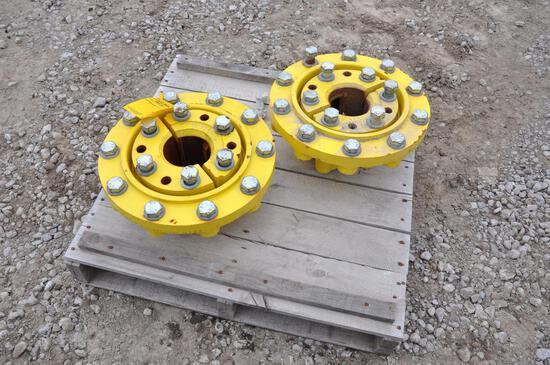 (2) John Deere 10-bolt dual hubs
