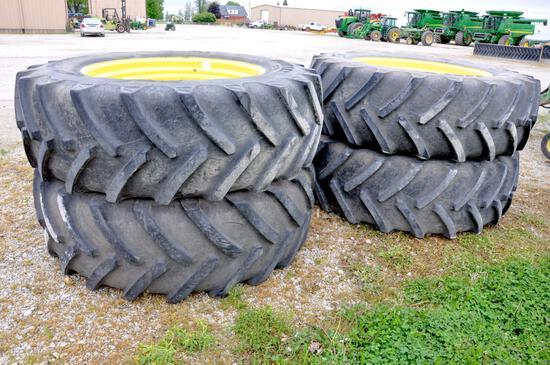 (4) BKT 620/70R46 tires & wheels for sprayer