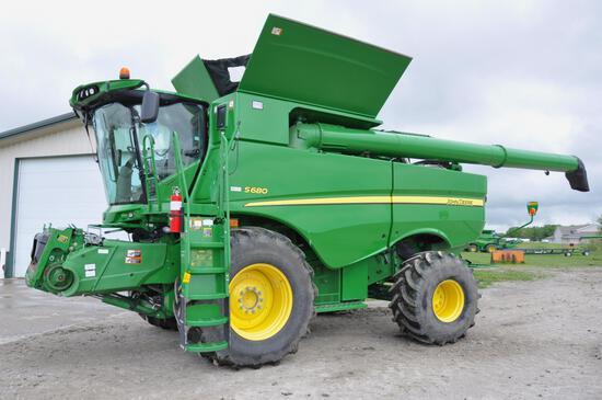 2012 John Deere S680 2wd combine