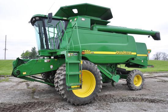 2002 John Deere 9550 2wd combine