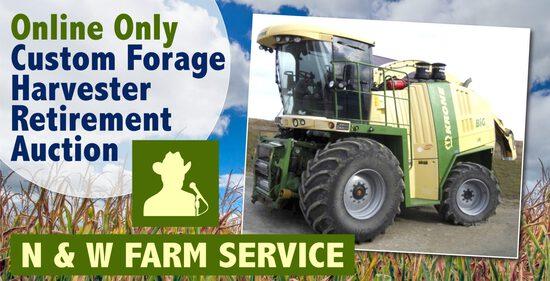 Online Only Custom Forage Harvester Retirement