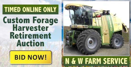 Online Only Custom Forage Harvester Retirement