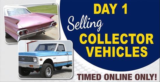 Day 1: 4-Day Online Only Collector Car Auction