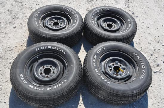 Set of (4) tires and rims