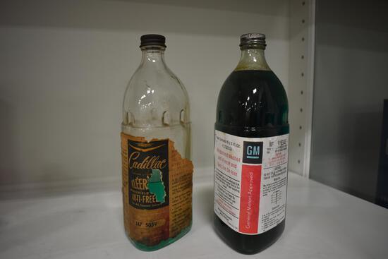 (2) glass antifreeze jars