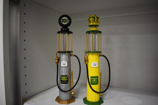 (2) John Deere gas pump banks