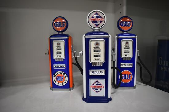 (3) gas pump banks