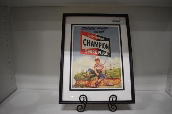 Champion Spark Plugs advertising piece