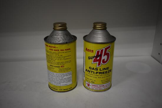 (2) Amco antifreeze cone-top cans