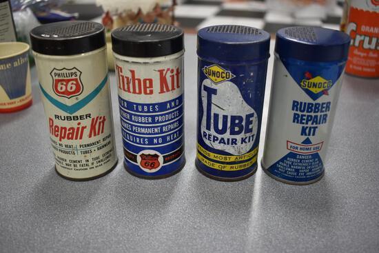 (4) tube repair tins