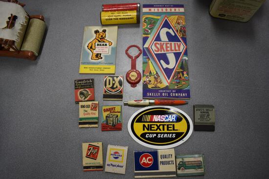 Misc gas/oil/soda advertising items