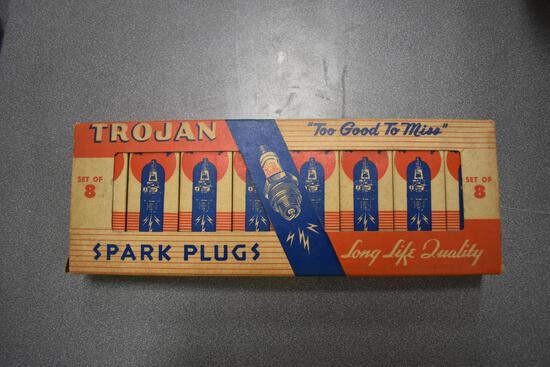 Set of (8) Trojan spark plugs