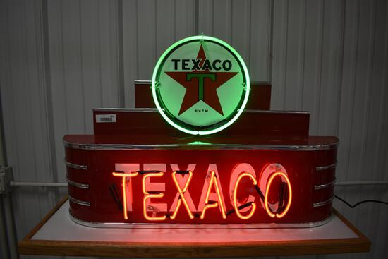 Texaco light-up neon sign