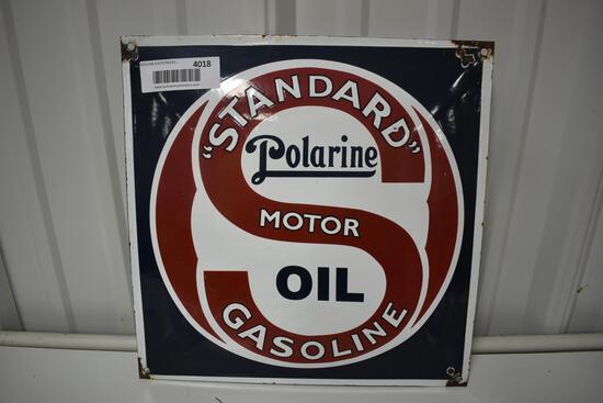 Standard Polarine Motor Oil porcelain sign