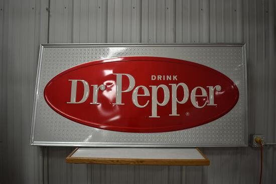 Dr. Pepper metal sign