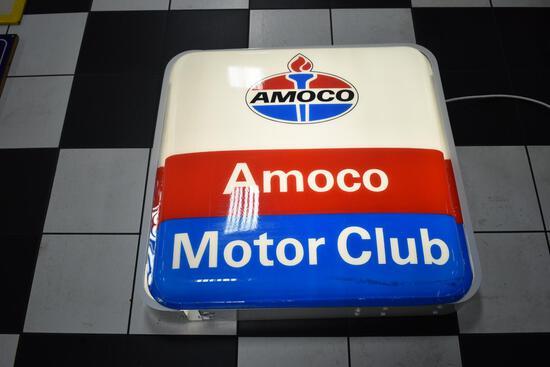 Amoco Motor Club light-up plastic sign
