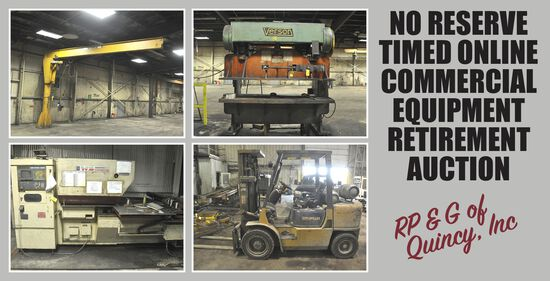 No-Reserve Steel Fabrication Commercial Equipment