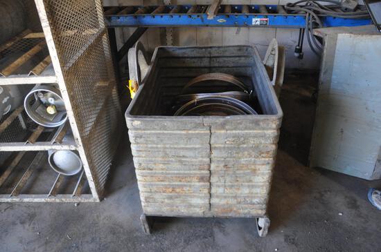 Metal industrial storage container