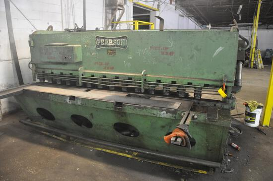 Pearson large industrial hyd. guillotine shear