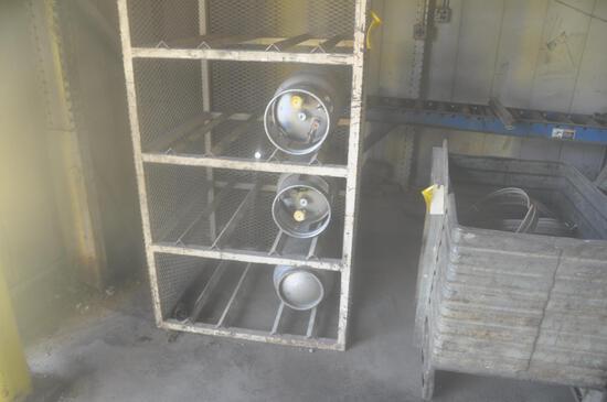 (8) whole LP tank cage w/tanks