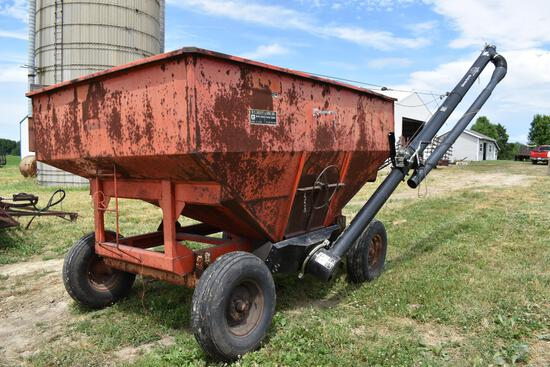 Ficklin 150 bu. gravity wagon w/Unverferth hyd. driven brush auger