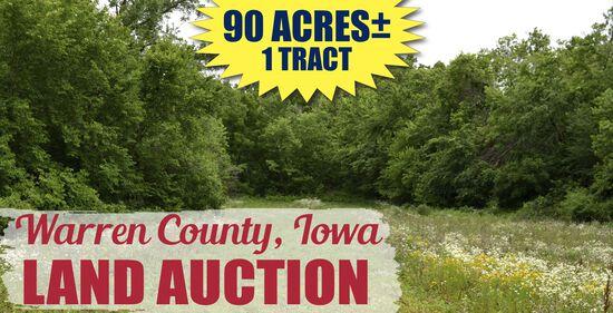 Warren County, IA Land Auction