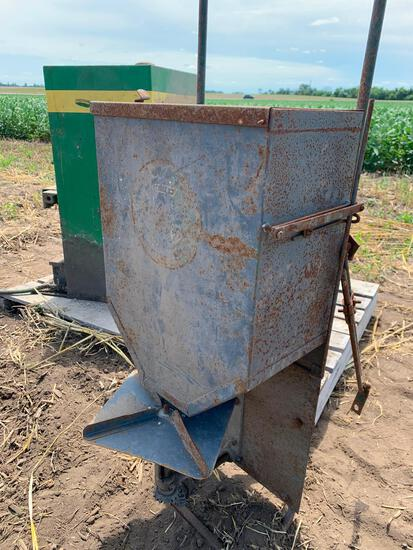 Tractor mounted broadcast spreader