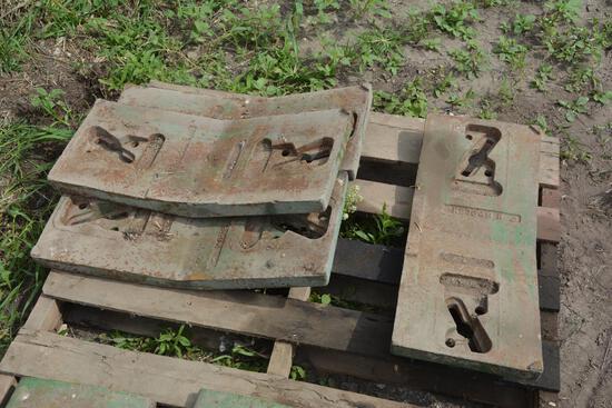 John Deere front pad weights