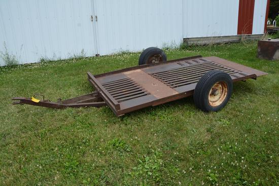 Shop Built 5' x 10' tilt bed single axle trailer