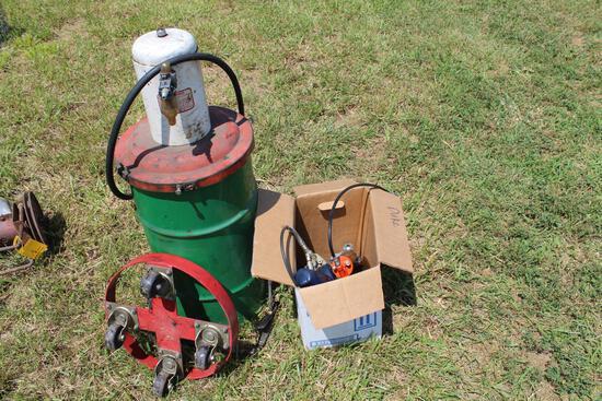 Air greaser & electric grease gun