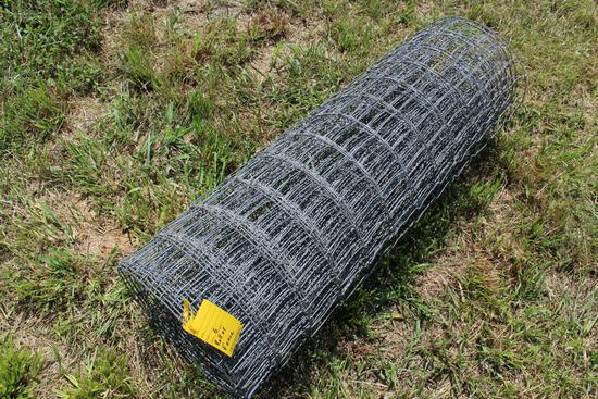 Roll of woven wire fence