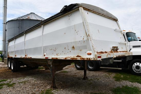 1995 Wheeler 38' steel hopper bottom grain trailer