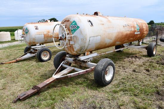 1,450 gal. NH3 tank on gear