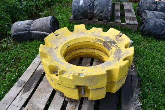 (2) JD 450 lbs. rear wheel weights