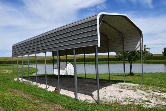 40' long x 18' wide x 12' tall metal carport