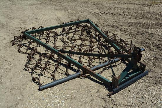 Shopbuilt 3-pt pasture harrow