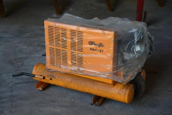 Pacific Eq. Pac-2T gas air compressor