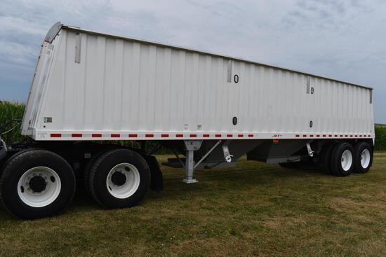 2014 Jet 34' steel hopper bottom trailer