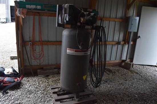 Sanborn 60-gallon upright shop compressor w/ 5HP motor