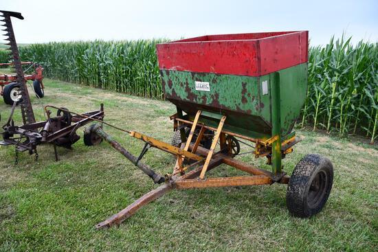 Larson pull type fertilizer spreader
