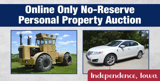 Online Only No-Reserve Personal Property Auction