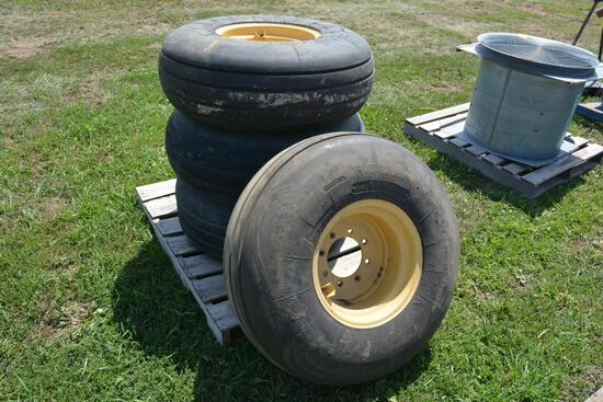 (4) Goodyear 14L-16.1 imp tires on 8 bolt rims