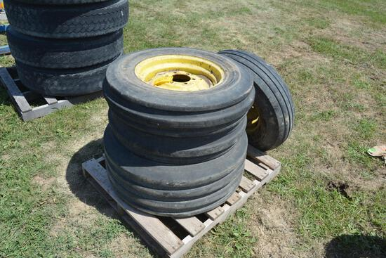 (4) Tractor and imp tires w/ rims