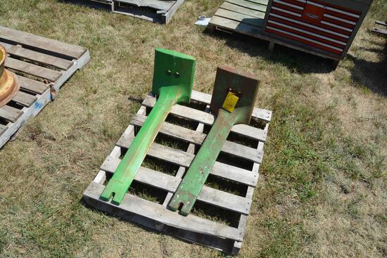 (2) John Deere front starter weights