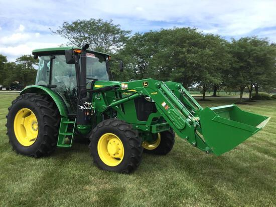 2016 JD 6120E MFWD tractor w/loader