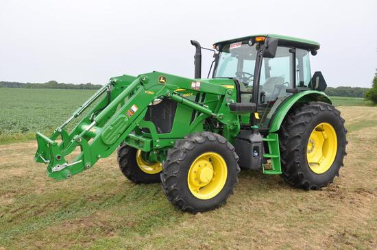 2016 JD 6120E MFWD tractor w/loader