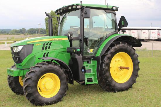 2017 JD 6110R MFWD tractor