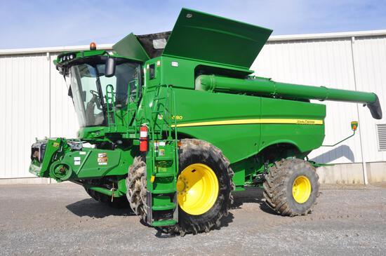 2015 JD S680 4wd combine