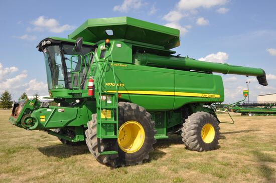 2011 JD 9870STS 4wd combine